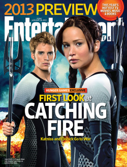 erinbowman:  entertainmentweekly:  This week in EW: CATCHING FIRE CATCHING FIRE CATCHING FIRE. And don't worry, the odds are in your favor — more pictures are coming.  Can't wait, can't wait, can't wait!