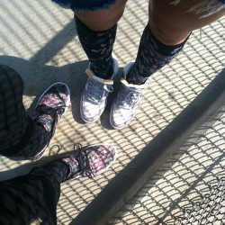 Floral Camo Janoski's @bamlovelezz and Sky Hi Dunk's in the fences together. Pushing through the works of our ancestors that are reflecting in some parts of society today.