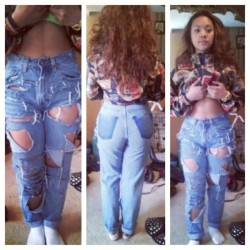 #slightwork #customdenim #distressedhighwaistjeans #thebeginning #azariahstyles #moneymotivated