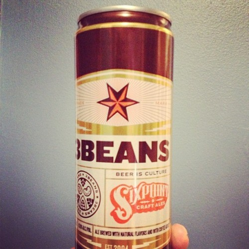Sixpoint, Mast Brothers & Stumptown collaboration. #3beans #beer #10%