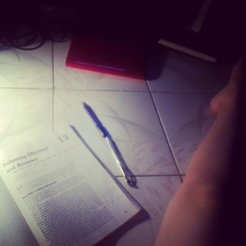 Streching and studying. That's how I do both. #study #learn #stretching #strech #night #light #college #exam