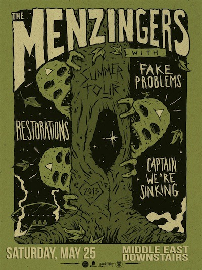 bostonshows:  saturday, may 25th, 2013 bowery boston presents:the menzingers (pa)fake problems (fl)restorations (pa)captain, we're sinking (pa) middle east | downstairs | cambridge, ma$13 - 15 | 7:30pm | 18+ facebook event page: here.  BOSTON BABY