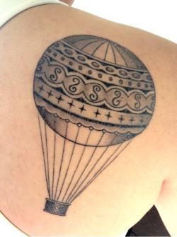 fuckyeahtattoos:  A lovely hot air balloon done by Greg Rojas at Seventh Son Tattoo in San Francisco. I love how it turned out and wouldn't have it any other way!