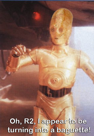 C3P-0 goofing around in a hilarious outtake…