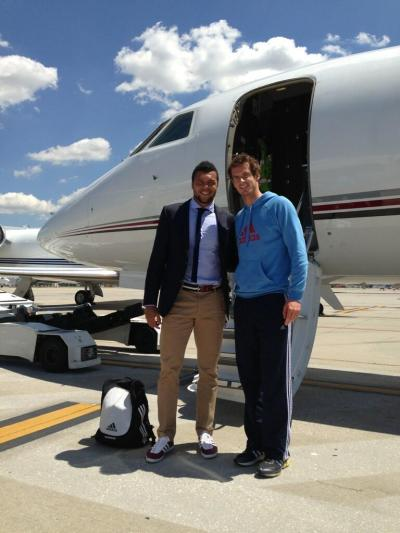 RT @tsonga7 It s our ride to Rome! @andy_murray massive gentleman. I will get you back one day… RT @andy_murray @tsonga7 no worries… Just some fashion tips and let me win next time we play…