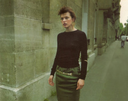 dustulator:  Mila Jovovich in Mixte France F/W 96.97