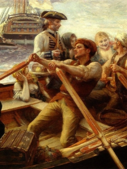 The Jolly Boat by Albert Lynch