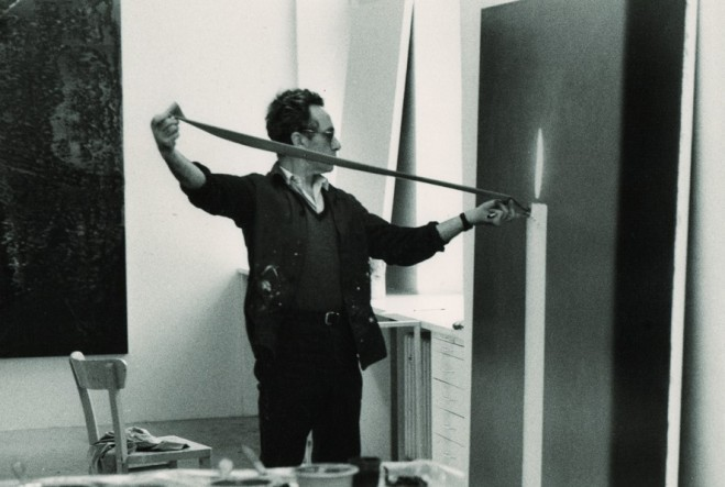 Gerhard Richter in His Studio - Benjamin Katz