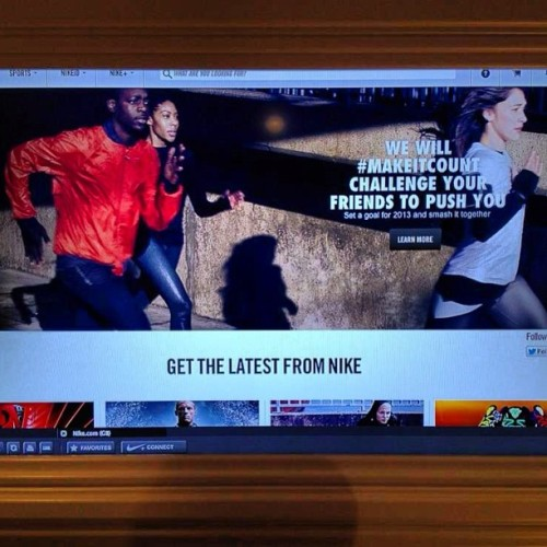 Check me and my running fam out on the @Nike (UK) website. We will #MakeItCount 2013! #BalotelliLifestyle #RDCYoungers