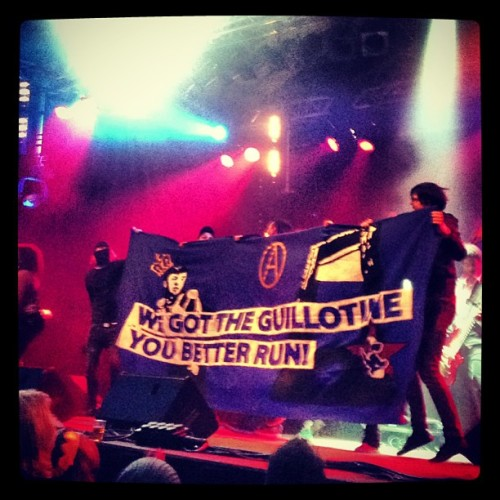 paxblueribbon:  We Got The Guillotine, You Better Run!