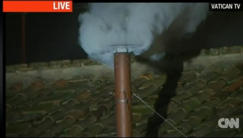 White smoke, black Pope?