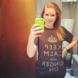 Keep calm and Ginger on. (: