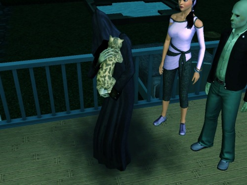 simsgonewrong:  grim reaper loves the pussy.