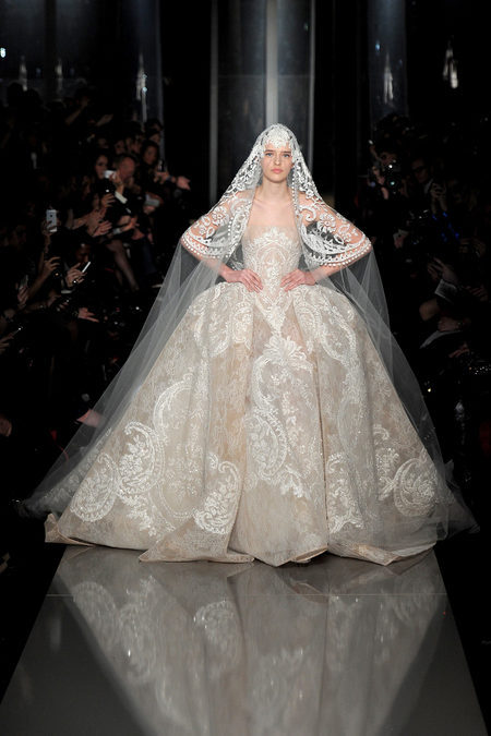 Elie Saab wedding dress spring summer 2013. Fashion week Paris