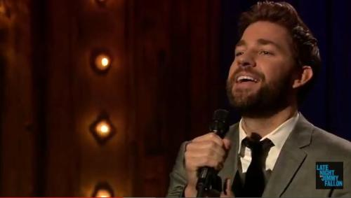 Lip sync off with John Krasinski. Um, DREAMY much?? http://youtu.be/5EnsjrDsVyI