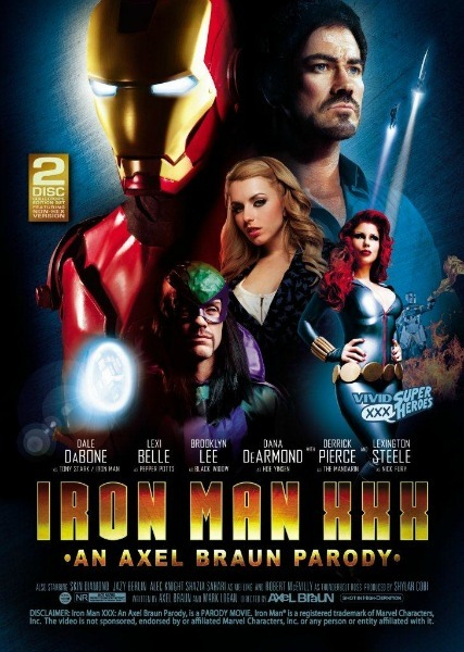 "It Took This Long for an Iron Man Porno? - Topless Robot - Nerd news, humor and self-loathing.  Axel Braun usually gets attention for his porn parodies by either doing a superhero that hasn't been done in a mainstream movie yet (like She-Hulk or Wonder Woman), or by getting his version out around the same time as the film being parodied (like Dark Knight Rises). So, uh, really? Iron Man only comes around now? Like, doesn't the very name ""Iron Man"" give you ideas right away? I feel like this was a missed opportunity, especially since Braun usually gets good costumes, but that Mandarin is hideously bad. You be the judge, though - safe-for-work trailer is after the jump."