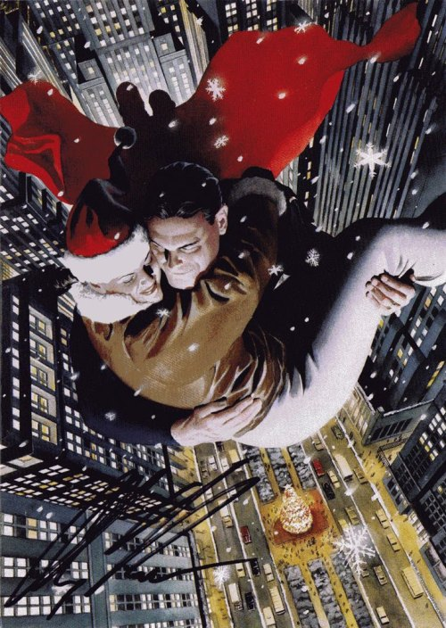 DC Christmas Card by Alex Ross #holidays