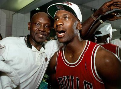 Michael Jordan and His Father, 1993 NBA Championship