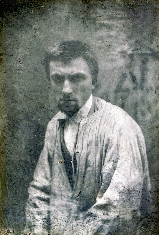 Auguste Rodin, 1862.  Photo by Charles Hippolyte Aubry.