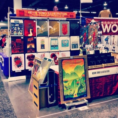 Today's the 2nd day at Wondercon! Kevin Tong Ilustration, booth 580 #wondercon