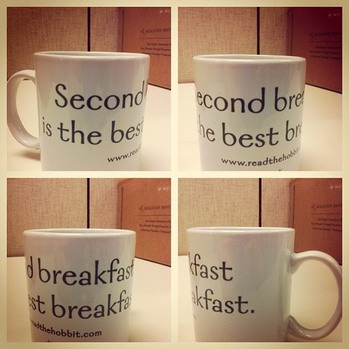 Win a 'Second Breakfast is the Best Breakfast' mug at 4 pm ET today! Follow us on twitter (@hmhbooks) for your chance.