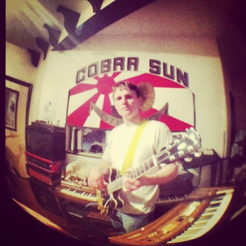 Nice iPhone fish eye shot of our live room, facing the window to the control room!
