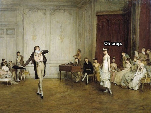 bitchfaceart:  Her First Dance (1884), William Quiller Orchardson.
