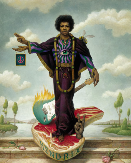 wiltednostalgia:  Jimi Hendrix by my favourite artist in the whole world; Mark Ryden. This is brilliant.  Jimi by Mark Ryden
