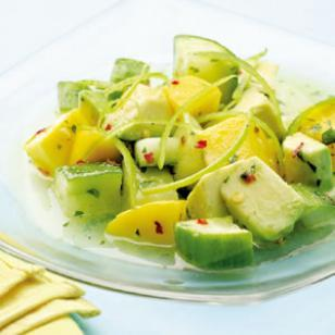 Tropical Cucumber Salad — RECIPE —
