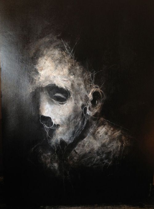 Creepy Acrylic Portraits A selection of acrylic paintings by French artist Eric Lacombe. His paintings often show distorted ghastly faces, which convey a very creepy mood. More paintings by Eric Lacombe on WE AND THE COLORWATC//Facebook//Twitter//Google+//Pinterest