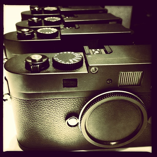 Leica Lust (iP5) #camera #monochrom #workshop #leicacameras #soho #nyc #photography #style #leica #design #blackandwhite (at Leica Store SoHo)