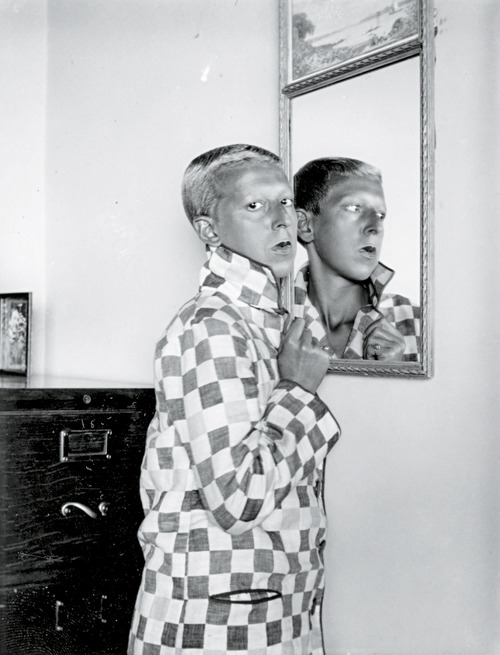 'Autoportrait', 1928, by Claude Cahun Claude Cahun was a French artist, photographer and writer. Cahun's life was marked by a sense of role reversal, and her public identity became a commentary upon not only her own, but the public's notions of sexuality, gender, beauty, and logic. Her adoption of a sexually ambiguous name, and her androgynous self-portraits display a revolutionary way of thinking and creating, experimenting with her audience's understanding of photography as a documentation of reality. Sources: 1, 2
