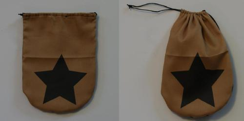 squishyproductions:  This is a rough prototype of our new draw string bags! It's about 7 inches long and 5 1/2 inches wide. Great for carrying money and small odds and ends. The material for the other designs will be in in two weeks. Bags will have images on both sides of the bag and be lined on the inside with silk. Designs will include Bell BagEnderman Creeper Bell Bag Rupee Bag Air Fire Water Earth Nations Kirby Jake Question Block Sex Bomb Omb http://squishyproductions.storenvy.com/   We will have a promotional give away of a couple of the bags here on our tumblr!