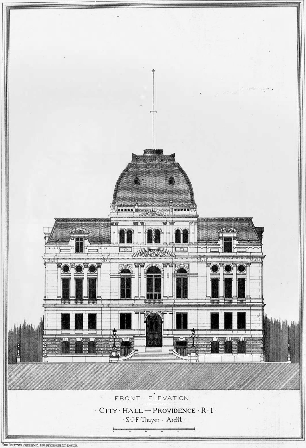 Elevation of the City Hall, Providence