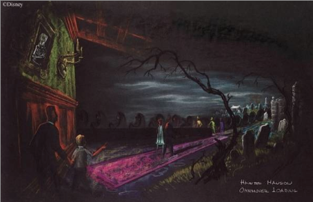 Coats' concept art for the Doombuggy loading area.