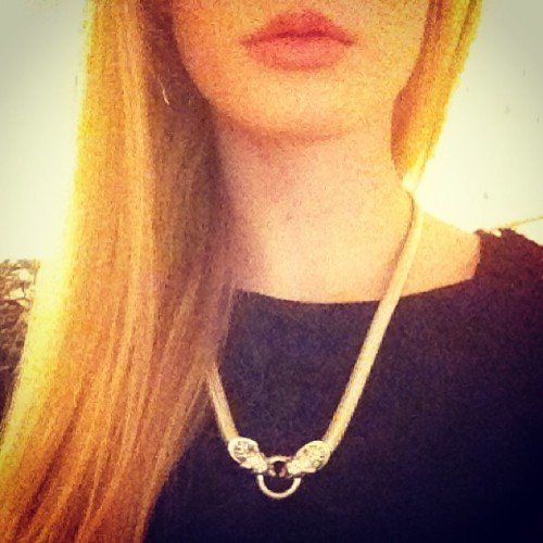 New necklace #jewelry #necklace #panther #bling #me #personal