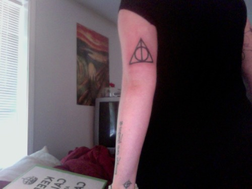 this is my second harry potter tattoo.