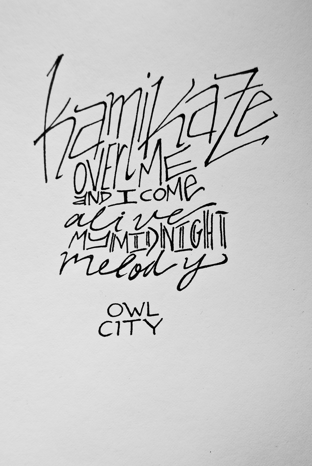 "Owl City: ""Kamikaze""artwork by Edge of Me [Liz Brown]"