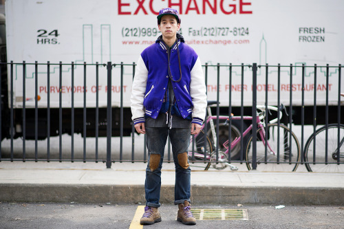 eyefivestyle:  Yung Tronald Burgundy The Grape God on Hypebeast street snaps   YURP.