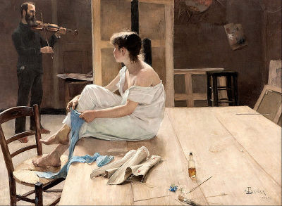 heaveninawildflower:  'After the Sitting' ( 1884) by Richard Bergh (1858–1919). Oil on canvas. Malmö Konstmuseum Google Art Project: Home via Wikimedia.