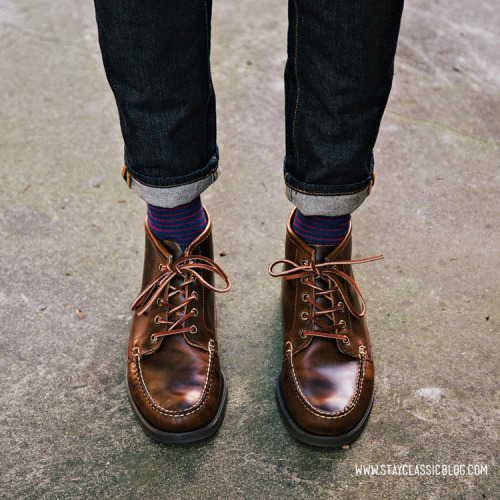 Jeans: American Eagle - $26Boots: Beacon Boot - Sebago (Bonobos)Socks: J. Crew Factor - $8 (similar)