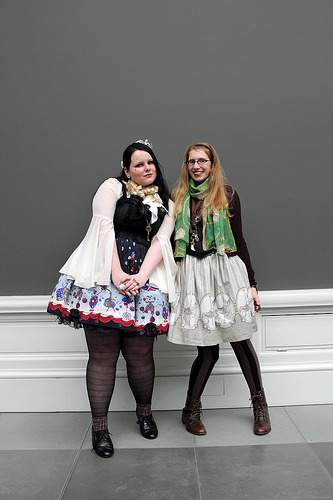 Claire and I at the February Belgian Cupcakes Lolita fashion meet.  MSK Ghent - Belgium - 24.2.2013  Photo by Annso.