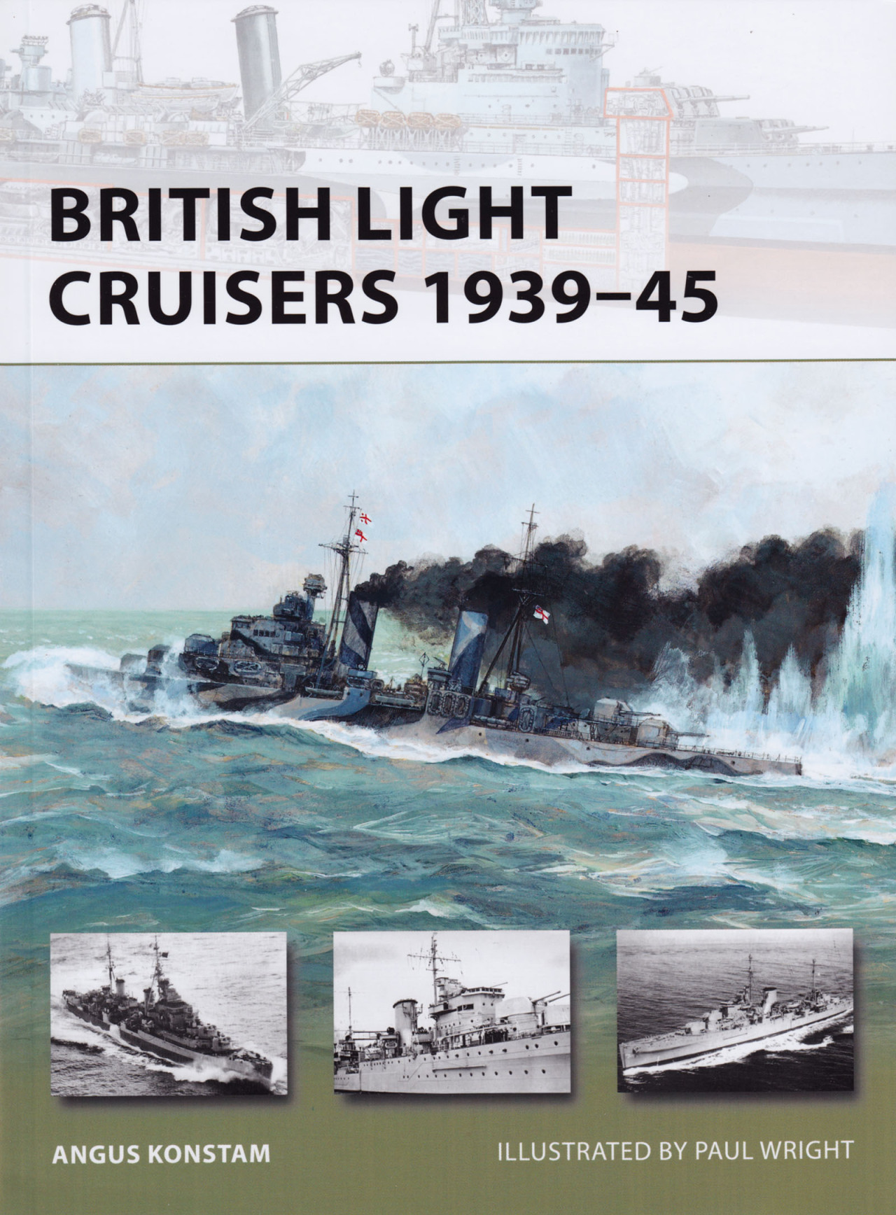 BOOK REVIEW: British Light Cruisers 1939-45 By Angus Konstam, illus. by Paul Wright, Osprey Publishing, Oxford, UK. (2012). Reviewed by Richard P. Hallion, Ph.D. Generally speaking, light cruisers have not received as much attention from historians and novelists as have other vessels, though they have figured in two of the great novels of naval warfare—C. S. Forester's The Ship, and Alistair MacLean's H.M.S. Ulysses.  Both relate the travails of protecting convoys from sub, surface, and air attack, the former about supplying Malta, and the latter about the Murmansk run. This slender but highly useful volume is a welcome factual introduction to the type, focusing on those vessels of the Royal Navy, which ably served the Admiralty's needs during the greatest sea war ever fought. (read the full review)