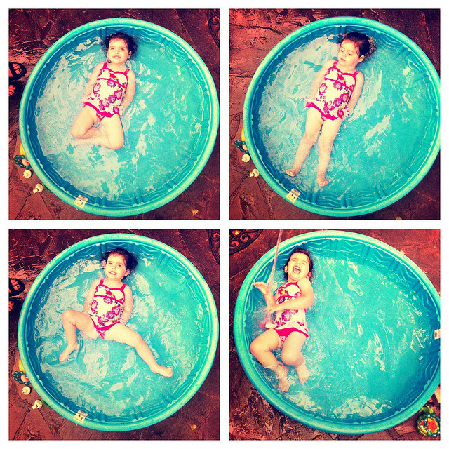 Adelaide at Trish and Grandaddy's pool on Flickr.