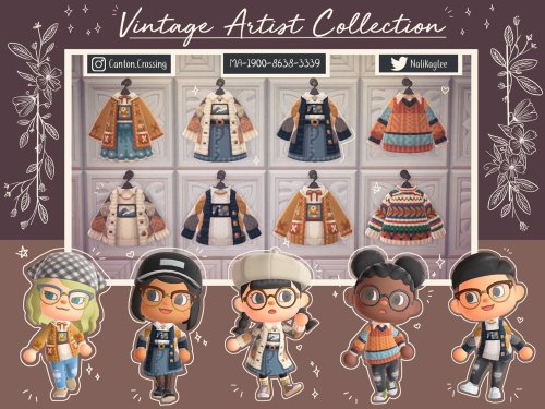 qr-closet:vintage artist clothing collection 🎨 #acnh clothing#acnh#animal crossing#new horizons #animal crossing new horizons #acnh winter #acnh winter fashion