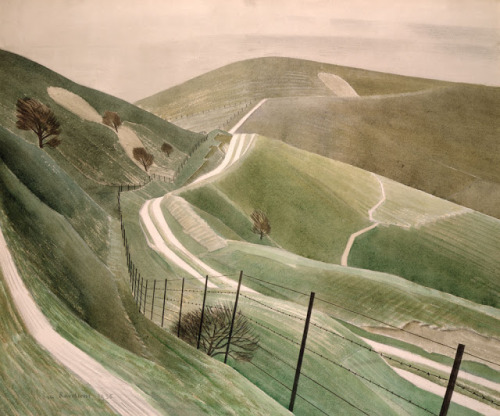 Eric Ravilious' Chalk Paths, 1935 (via James Russell)