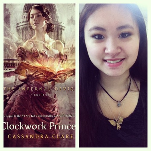 Clockwork Princess day! Rocking the clockwork angel :) learned that everyone got it on kindle and I can't get it till after school so now I'm avoiding tumblr for the day… #clockworkprincess #infernaldevices #shadowhunters