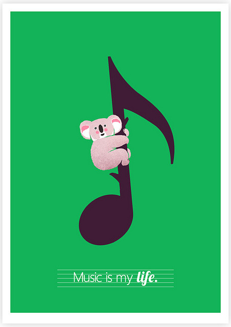 Music Is My Life on Flickr.Giclee Print Tang Yau Hoong: Web | Shop | Facebook | Tumblr | Twitter  | Behance