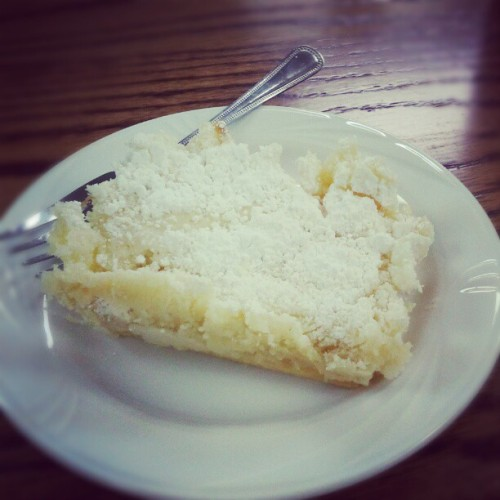 gooey butter cake-a classic in St. Louis. (at Little O's Old Time Soda Fountain Shop)