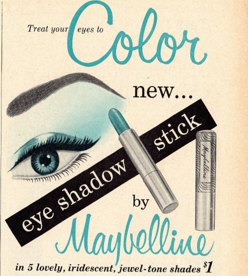 maybelline eye shadow stick ad (by CapricornOneVintage)